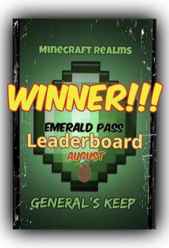 """MMG """"Emerald Pass"""" WINNER!!! (August) Minecraft Blog"""