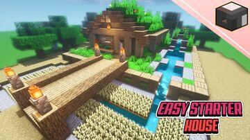 Easy Minecraft SURVIVAL STARTER House Minecraft Blog