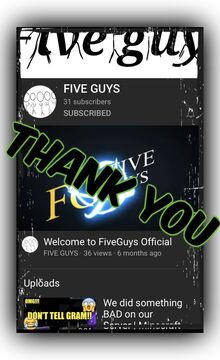 "Thank You, ""Five Guys""!!! Minecraft Blog"