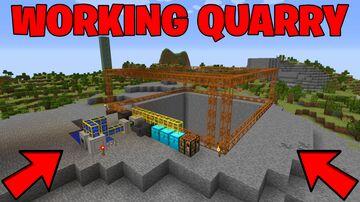 The Minecraft Quarry (Modded Survival Episode 6 Multiplayer Minecraft Blog