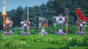 How to Build 5 EASY STATUES Minecraft Blog