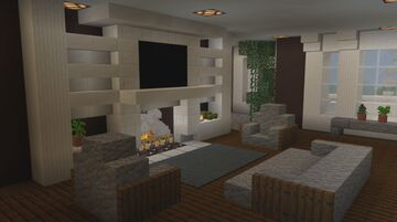 Minecraft Furnishing The Coastal Style Mansion (Part 1) Interior Inspiration Minecraft Blog
