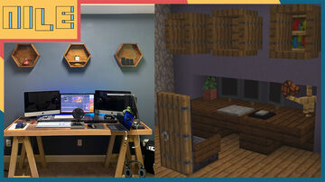 I Built My Desk Setup In Minecraft Minecraft Blog