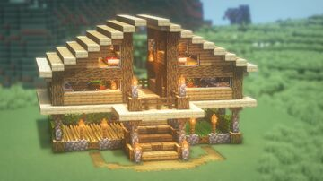 How to Build a SIMPLE SURVIVAL House Minecraft Blog