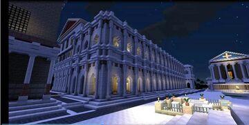 AB VRBE CONDITA. La Antigua Roma recreada en Minecraft: visita virtual a la «Basílica Æmilia» Minecraft Blog