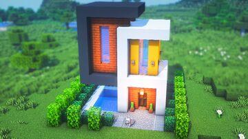 BEAUTIFUL Modern House Minecraft Blog