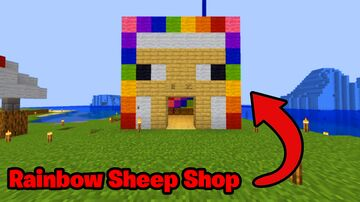 Rainbow Sheep Shop In Logcraft Minecraft Blog