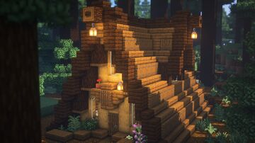 How to Build a Cabin House Minecraft Blog