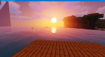 Sunset on the lake Minecraft Blog