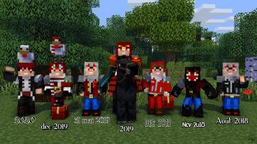 Evolution de mes skins au fil du temps Minecraft Blog