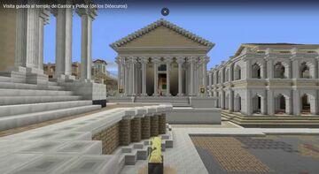 TEMPLO DE CASTOR Y POLLUX: visita virtual Minecraft Blog