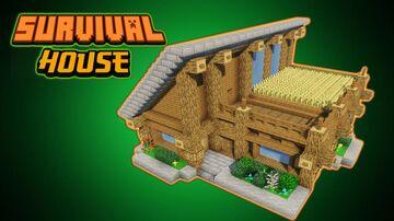 Minecraft SURVIVAL HOUSE tutorial step by step Minecraft Blog