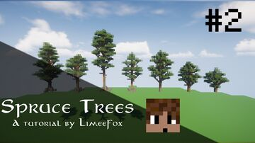 How to build a Spruce Tree - Tutorial Minecraft Blog