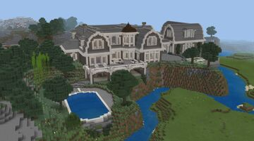 Minecraft Building a Backyard For The Coastal Style Mansion Minecraft Blog