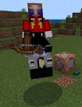 Dr. Robotnik in his egg mobile Minecraft Blog