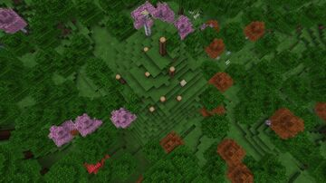 why there is no leaves from the other trees but my seed is 808733822 Minecraft Blog