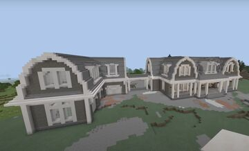 Building The Coastal Style Mansion (Video Link in Comments) Minecraft Blog