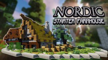 Simple Minecraft Build: Starter NORDIC FARMHOUSE! - Building tutorial Minecraft Blog