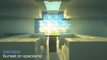 Sunset on our spaceship / interstellar RV Minecraft Blog