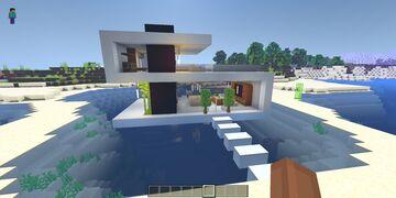 Simple modern house design Minecraft Blog