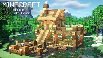 Minecraft | How to Build a Wooden Lake House Minecraft Blog