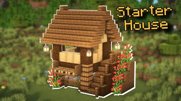 Minecraft | Small Starter House Idea | How to Build a Small Starter House Tutorial Minecraft Blog