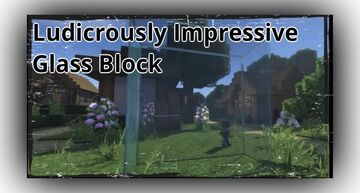 This realistic glass block in Minecraft is ludicrously impressive Minecraft Blog