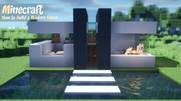 Minecraft Tutorial | How to Build a Small Modern House | Simple House for Survival Minecraft Blog