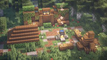 Minecraft | Campsite Building Idea | How to Build a Campsite Tutorial Minecraft Blog