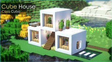 ⛏️ Minecraft Tutorial :: ❤️ Casa Cubo Aconchegante 🏡 Minecraft Blog