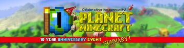 PMC's 10 Year Anniversary Event Summary Minecraft Blog