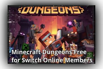 Switch Online Members Can Try Minecraft Dungeons for Free Minecraft Blog
