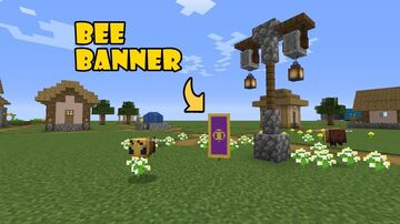 Bee Banner in Minecraft || Tutorial Minecraft Blog