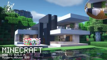 Minecraft   How to Build a Modern House #08 Minecraft Blog