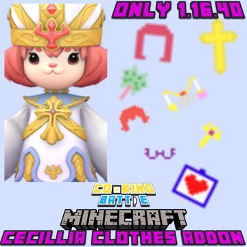 Cooking Battle - Cecillia Clothes Addon(#shorts) Minecraft Blog