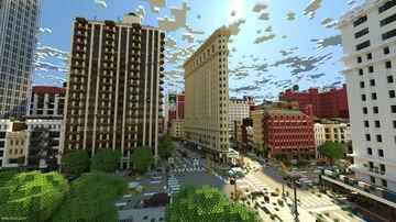 "Chunky Render: Manhattan - from the Movie ""I Am Legend"" Minecraft Blog"
