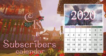 ✰ Subscribers Calendar 2020 CaraRose ✰ Minecraft Blog