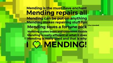 My love poem for the mending enchant Minecraft Blog