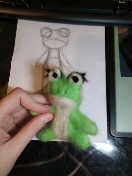 Felting the Froggo Minecraft Blog