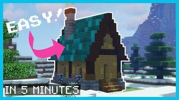 Minecraft Simple Snow Cottage IN 5 MINUTES [ TUTORIAL ] Minecraft Blog