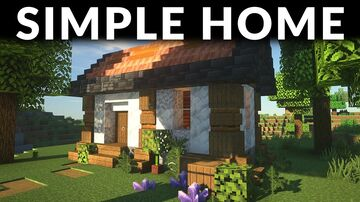 Minecraft | How to Build a Simple Survival House | Starter House In 1.17 Minecraft Blog