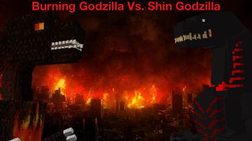 BURNING GODZILLA VS. SHIN GODZILLA!!! Minecraft Blog