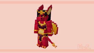 Blazing Eternal Flame: Faiya | Fan Art | 3D Model Minecraft Blog