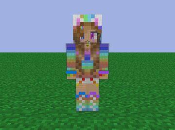 Cool Rainbow Cat Girl (HD Skin) Minecraft Blog