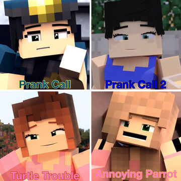 4 ZAMination Original Funny Minecraft Animations with Girls (Eileen & Rebecca) Minecraft Blog