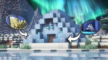Minecraft | Ice House Idea | How to Build a Ice House Tutorial Minecraft Blog
