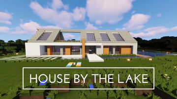 A Detached House By A Lake In Minecraft   Tutorial Minecraft Blog