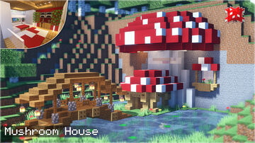 How to Build a Mountain Mushroom House   Minecraft 🏡 (STEP BY STEP) ⛏️ Minecraft Blog