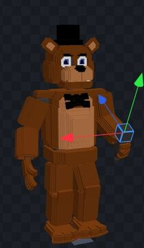 Im making fnaf modpack for bedrock eddition that will be avalible on mcpedl for some reason i modeled freddy fazbear first heres the final resoults Minecraft Blog