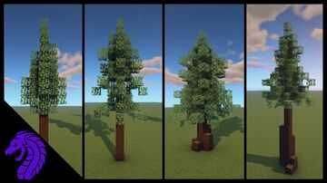 How to build custom spruce/ pine trees in minecraft Minecraft Blog